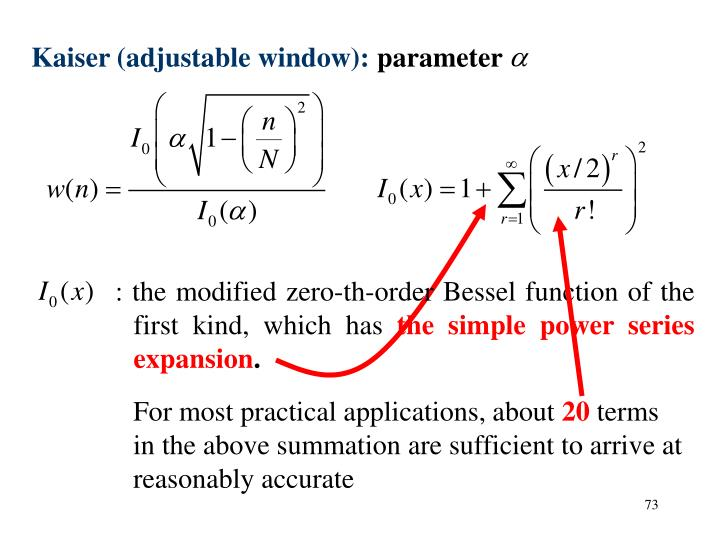 : the modified zero-th-order Bessel function of the first kind, which has