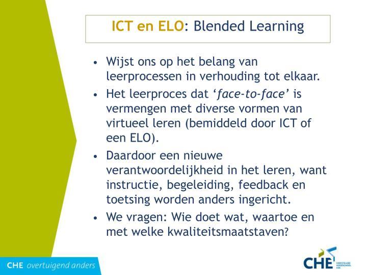 ICT en ELO