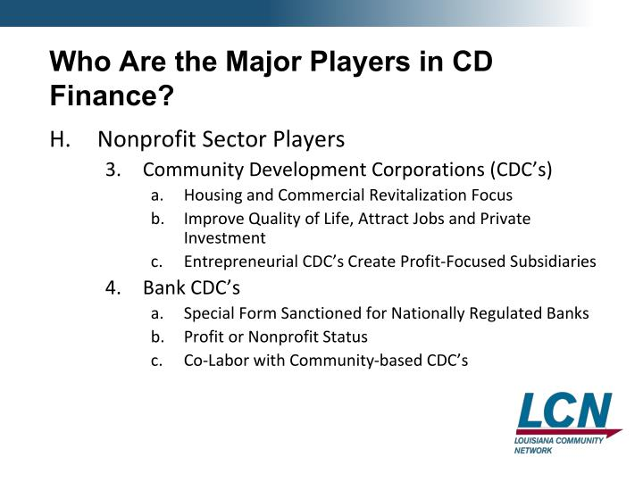 Who Are the Major Players in CD Finance?