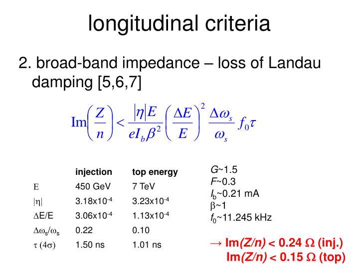longitudinal criteria