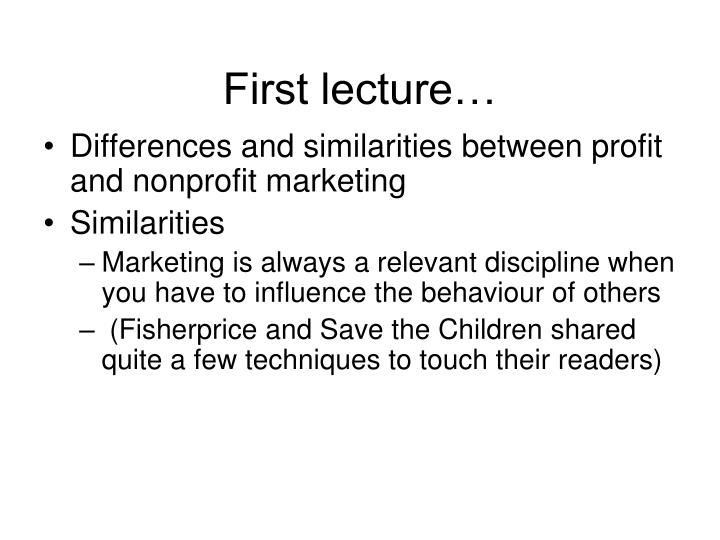 First lecture…
