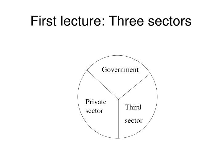 First lecture: Three sectors
