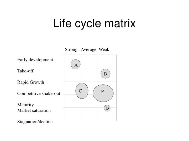 Life cycle matrix