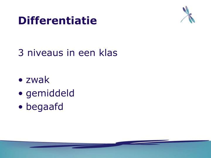 Differentiatie