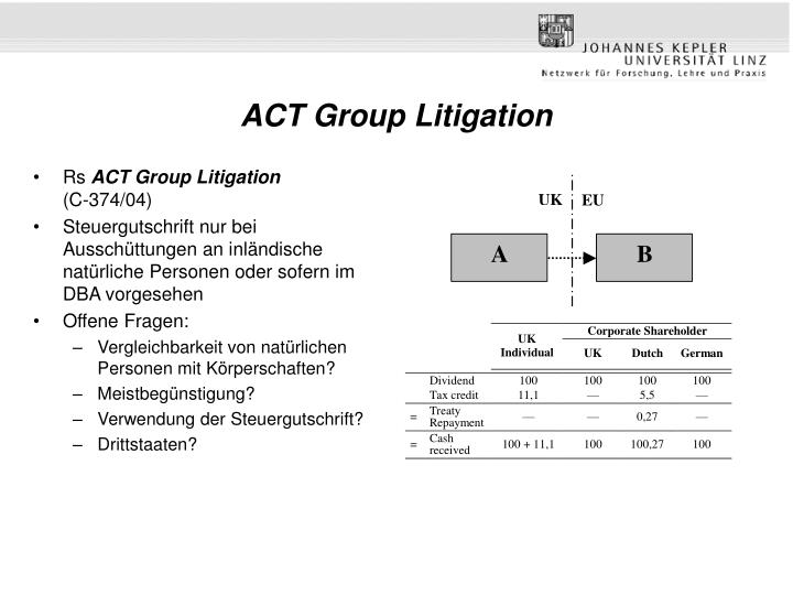 ACT Group Litigation