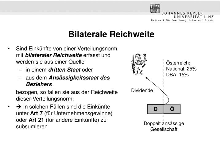 Bilaterale Reichweite
