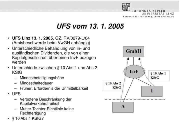 UFS vom 13. 1. 2005