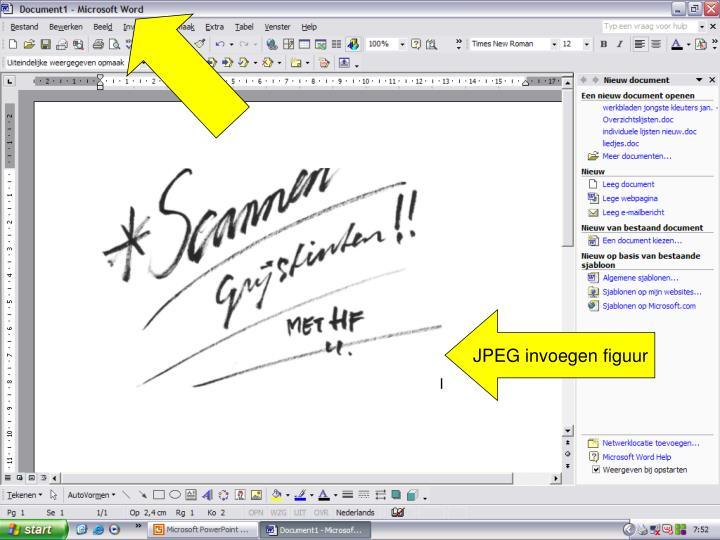 JPEG invoegen figuur