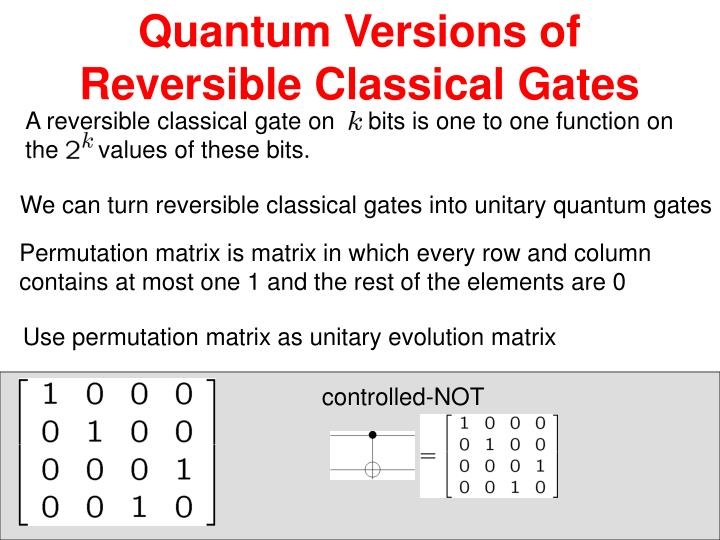 Quantum Versions of