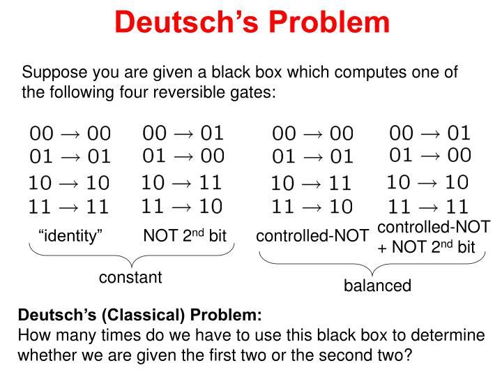 Deutsch's Problem