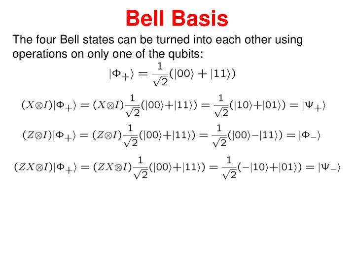 Bell Basis
