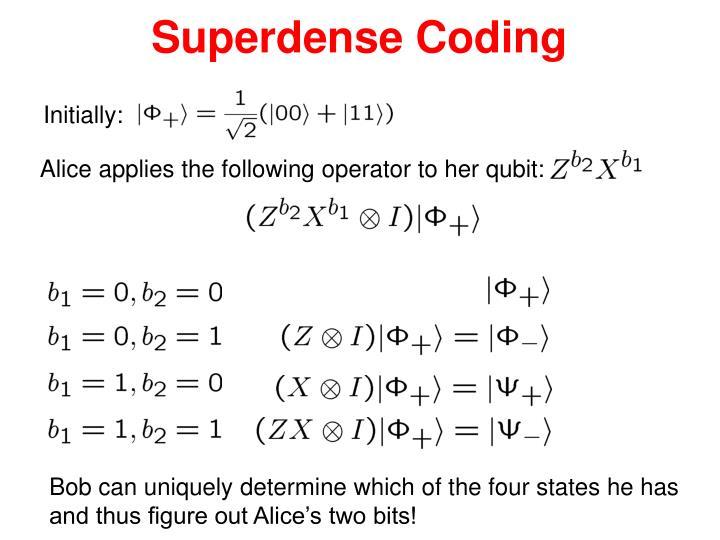 Superdense Coding