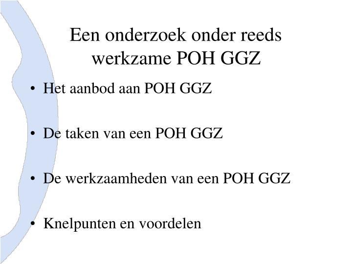 Een onderzoek onder reeds werkzame POH GGZ