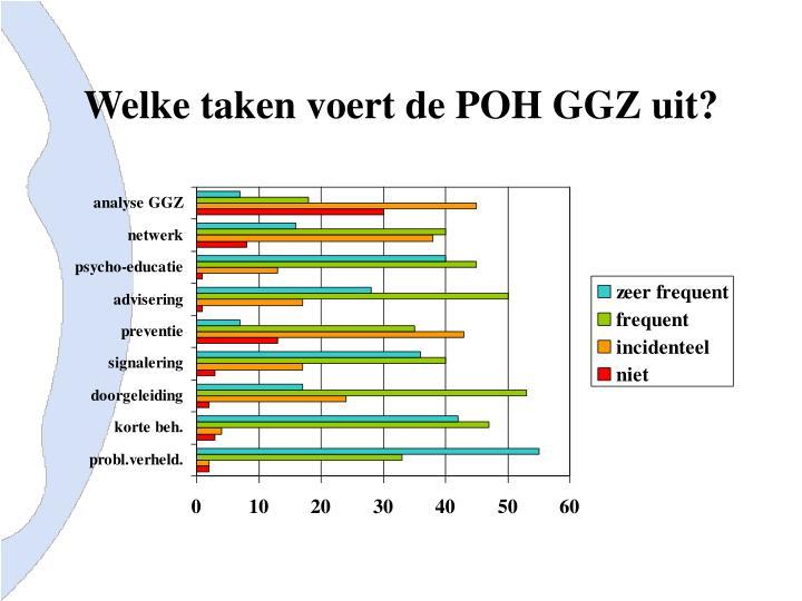 Welke taken voert de POH GGZ uit?