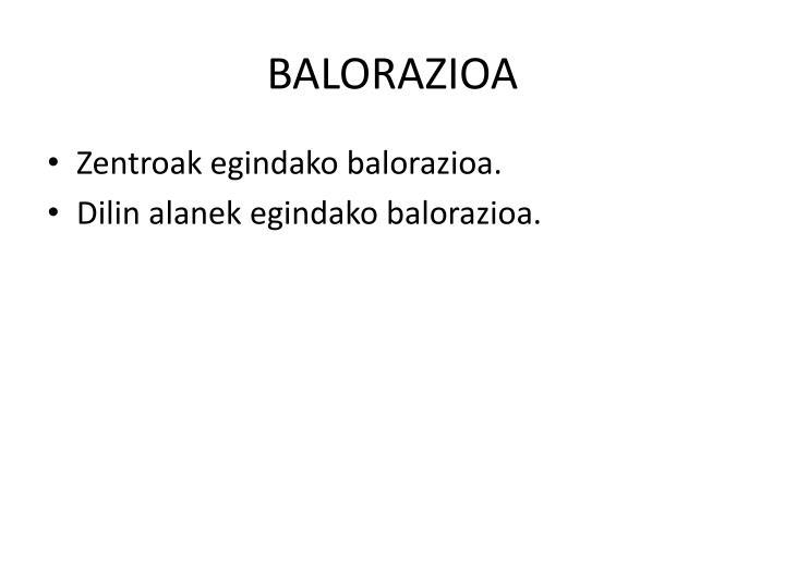 BALORAZIOA