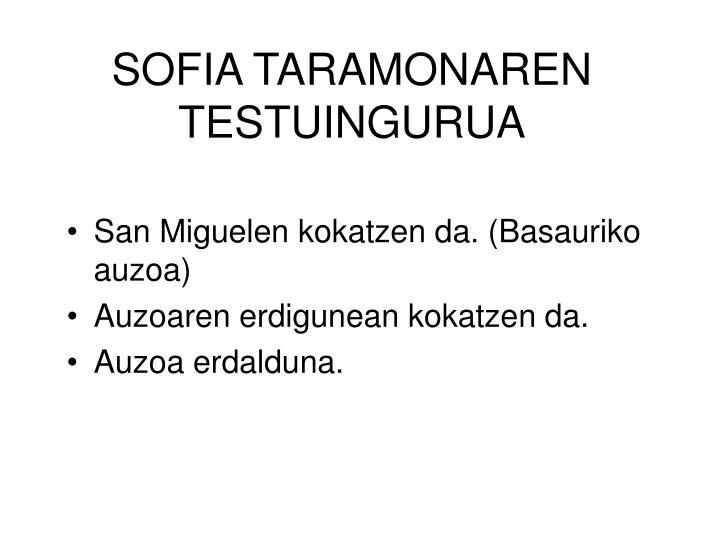 SOFIA TARAMONAREN
