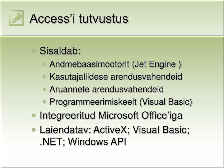 Access'i tutvustus