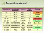 access i versioonid