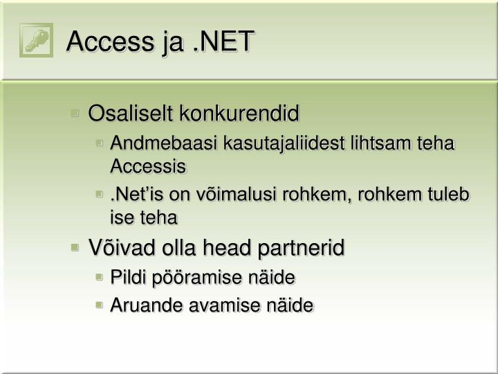 Access ja .NET