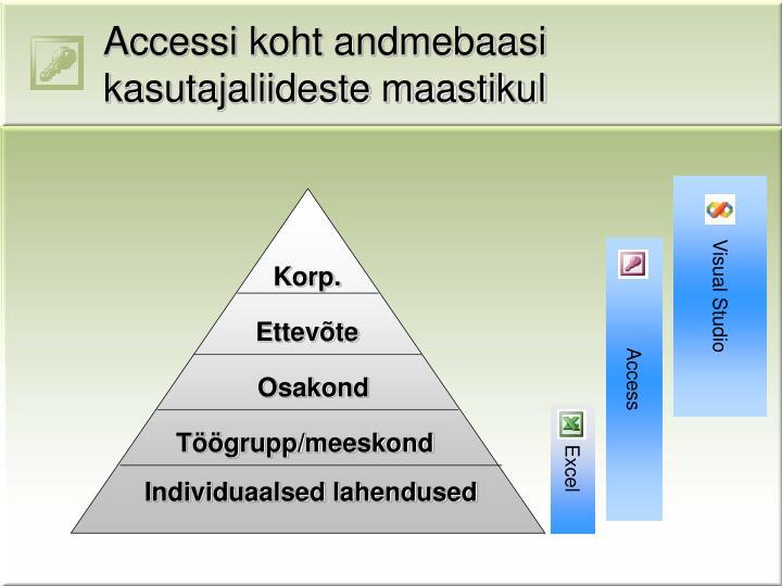 Accessi koht andmebaasi kasutajaliideste maastikul