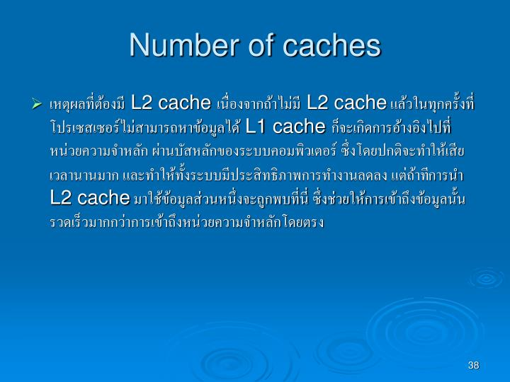 Number of caches