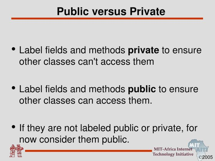 Public versus Private