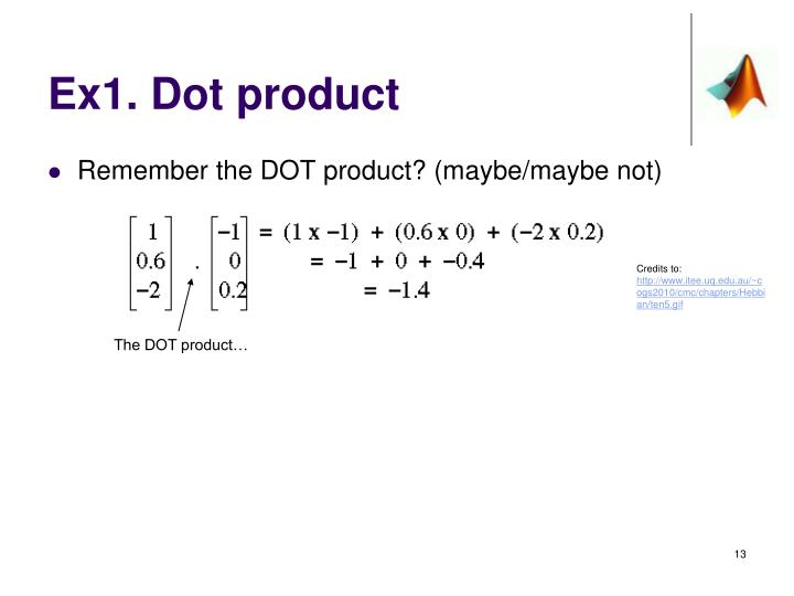 Ex1. Dot product