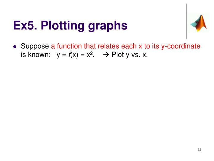 Ex5. Plotting graphs