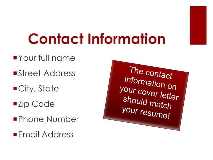 Contact Informatio