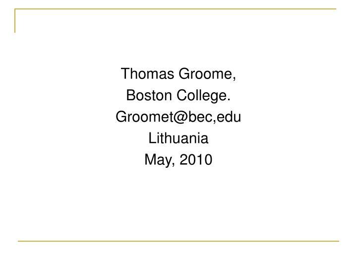 Thomas Groome,