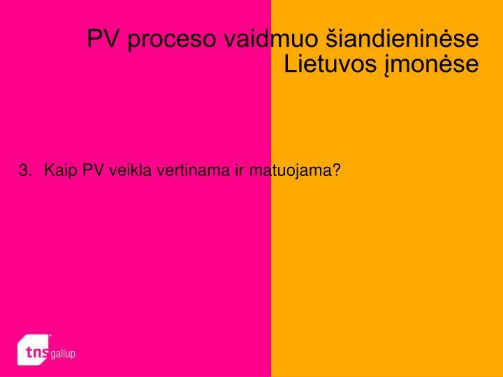 PV proceso vaidmuo šiandieninėse Lietuvos įmonėse