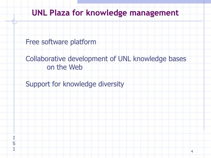 UNL Plaza for knowledge management