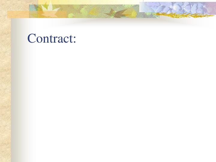 Contract: