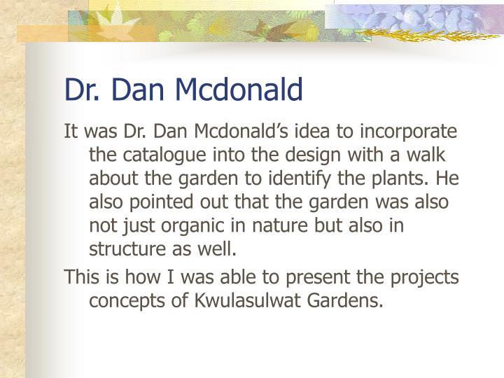 Dr. Dan Mcdonald