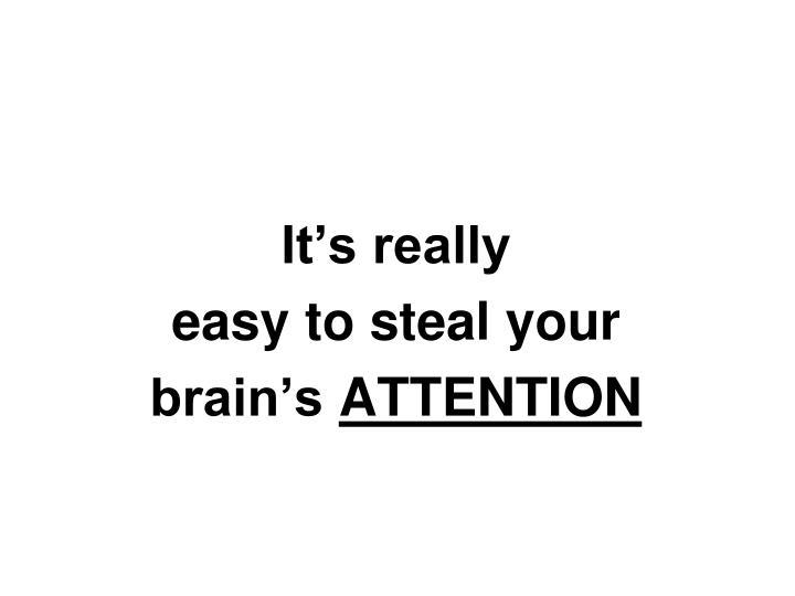 It's really