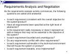 requirements analysis and negotiation1