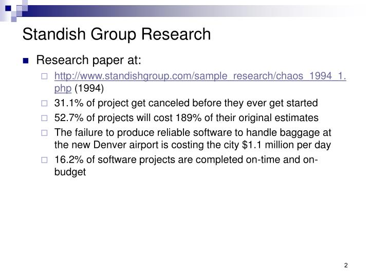 Standish Group Research