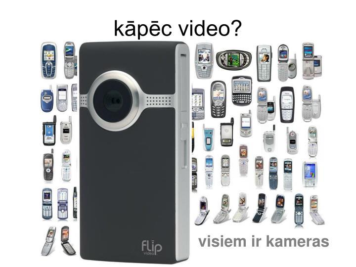visiem ir kameras