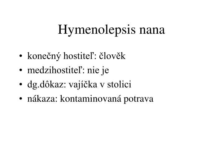Hymenolepsis nana