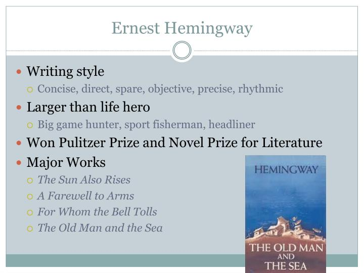 "the unique writing styles of hemingway and faulkner in the sun also rises and as i lay dying In the sun also rises by ernest hemingway, lady brett ashley is somewhat  portrayed as ""the  written in 1926, in a time that can only be described as firmly  within the ""modernist  jake barnes lived a real casual life style  in  faulkner's as i lay dying, vardaman bundren struggles to find a solution that will  allow him to."