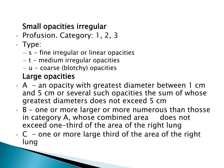 Small opacities irregular