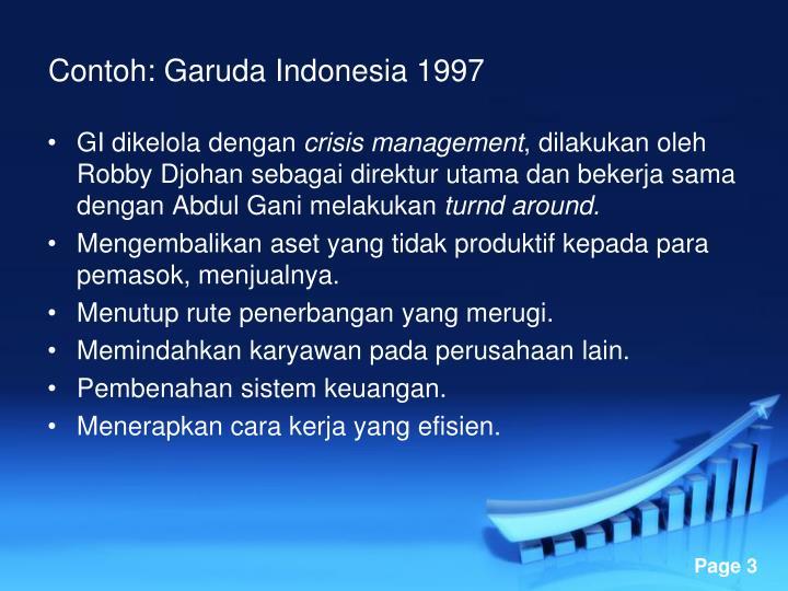Contoh: Garuda Indonesia 1997