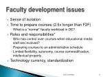 faculty development issues