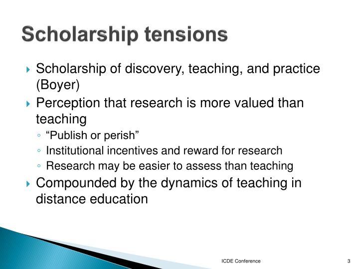 Scholarship tensions
