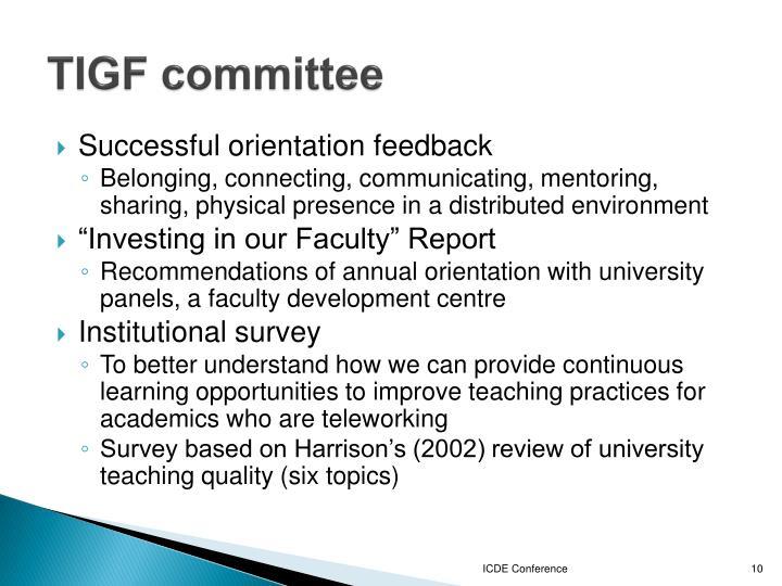 TIGF committee