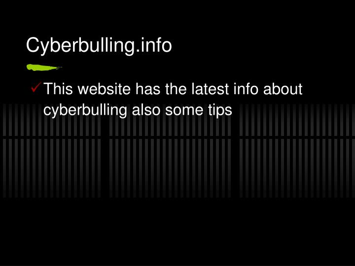 Cyberbulling.info