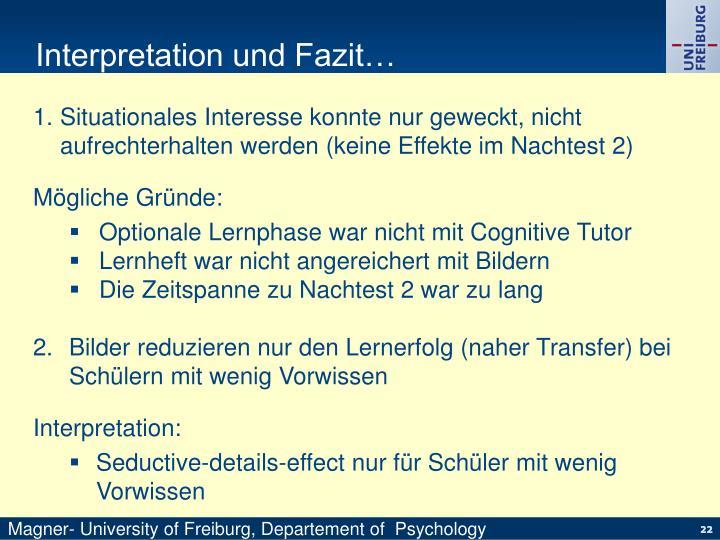Interpretation und Fazit…