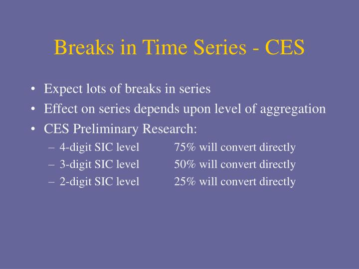 Breaks in Time Series - CES