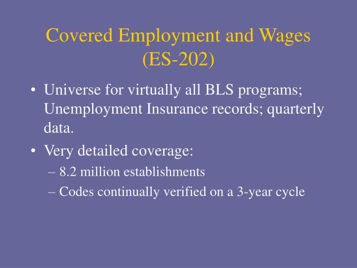Covered Employment and Wages (ES-202)