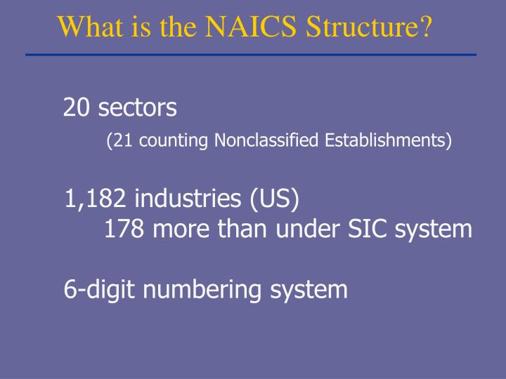 What is the NAICS Structure?